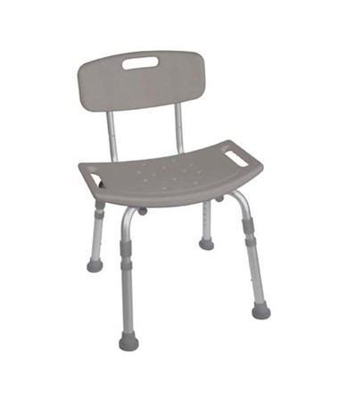 """Drive RTL12202KDR Bath Bench with Back, Grey"""