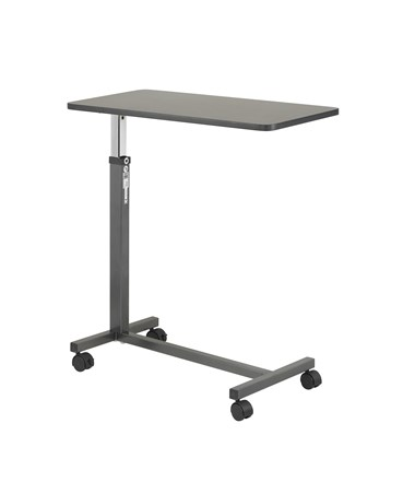 """Drive 130067 Non-Tilt Overbed Table, Silver Vein"""