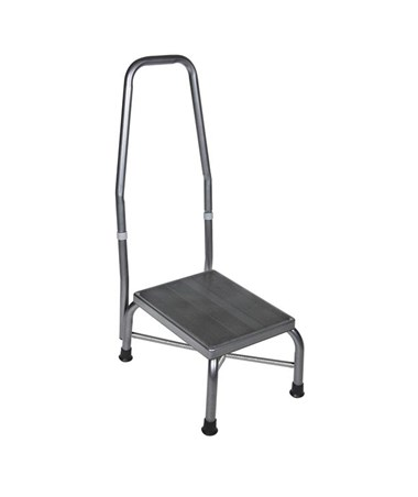 """Drive 13062-1SV Bariatric Foot Stool with Handrail"""