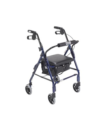 """Drive 544 Designer Winnie, Mini Lite Deluxe Aluminum Rollator, Padded Seat, 6 Casters with Loop Locks""