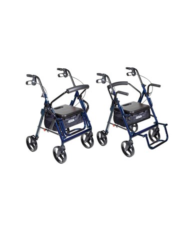 """Drive 795b Duet Transport Wheelchair Chair Rollator Walker"""