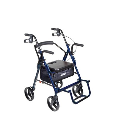 """Drive 795b Duet Transport Wheelchair Chair Rollator Walker