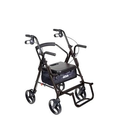 """""""Drive 795bk Duet Transport Wheelchair Chair Rollator Walker """""""