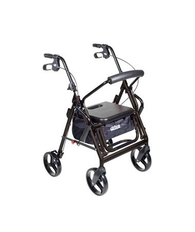 """Drive 795bk Duet Transport Wheelchair Chair Rollator Walker