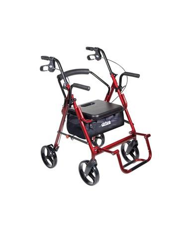 """""""Drive 795bu Duet Transport Wheelchair Chair Rollator Walker """""""
