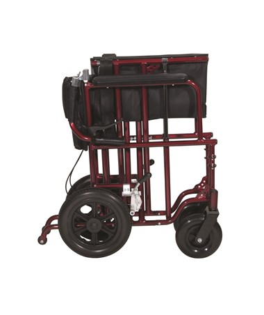 """Drive ATC22-R Bariatric Aluminum Transport Chair - Folded"""