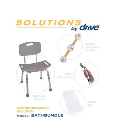 """Drive BATHBUNDLE Bathroom Safety Solution"""