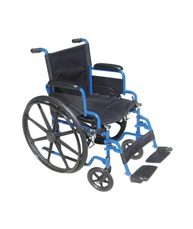 Blue Streak Wheelchair with Flip Back Detachable Desk Arms and Swing-away Foot Rest DRIBLS18FBD-SF