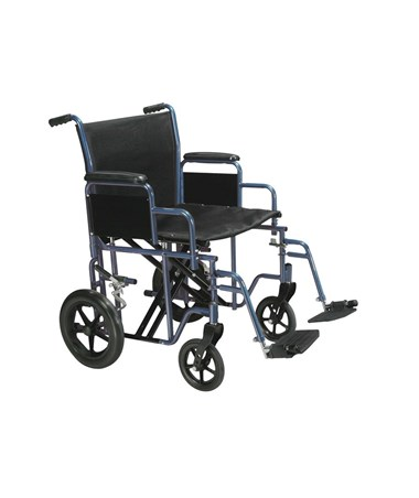 """Drive Bariatric Steel Transport Chair Blue"""