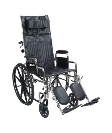 Chrome Sport Full-Reclining Wheelchair DRICS16RBDDA-