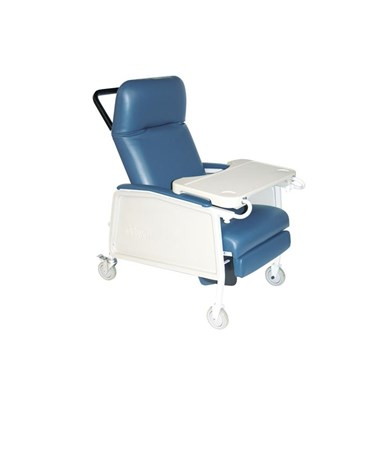 """Drive D574EW-BR 3 Position Heavy Duty Bariatric Geri Chair Recliner, Blue Ridge"""