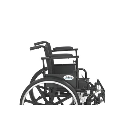 """Drive Viper Plus GT Wheelchair with Adjustable Flip Back Removable Desk Arms & Elevating Leg Rest"""