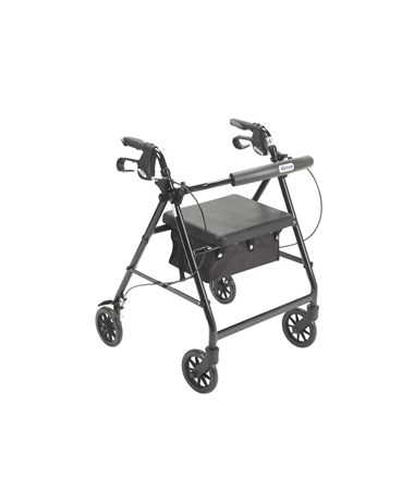 """Drive Aluminum Rollator with Fold Up and Removable Back Support, Padded Seat"""