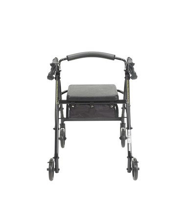 """Drive Aluminum Rollator with Fold Up and Removable Back Support, Padded Seat