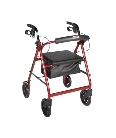 """""""Drive R728RD Aluminum Rollator - Red"""""""