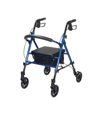 """Drive RTL10261BL Universal Seat Height Aluminum Rollator"""