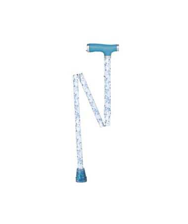 """Drive RTL10304LB Folding Cane - Light Blue"""