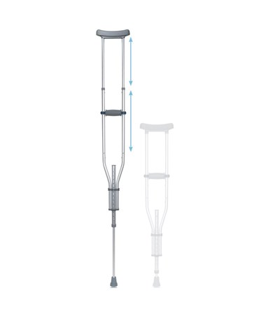 Drive RTL10433 Universal Aluminum Crutches With Accessories