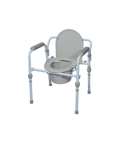 Drive RTL11148KDR Folding Steel Commode