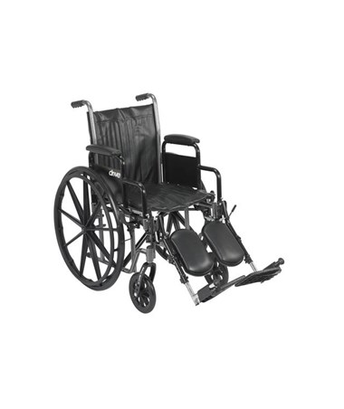 """Drive Silver Sport 2 Wheelchair with Detachable Desk Arms and Elevating Leg rest"""