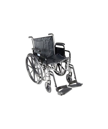 """Drive Silver Sport 2 Wheelchair with Detachable Desk Arms and Swing Away Footrest"""
