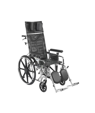 """Drive Sentra Reclining Wheelchair with Elevating Leg rest and Detachable Adjustable Height Full Arms"""