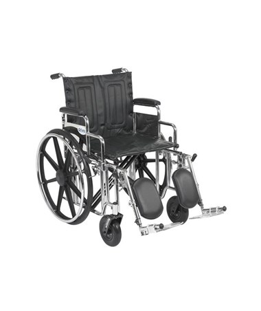 """Drive Sentra Extra Heavy Duty Wheelchair Detachable Desk Arms Elevating Leg rest"""