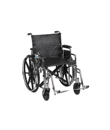 """Drive Sentra Extra Heavy Duty Wheelchair Detachable Desk Arms Swing away Footrest