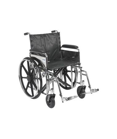 """Drive Sentra Extra Heavy Duty Wheelchair Detachable Full Arms Swing away Footrest