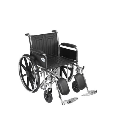 """Drive Sentra EC Heavy Duty Wheelchair - Dual Axle Detachable Full Arms Elevating Leg rest
