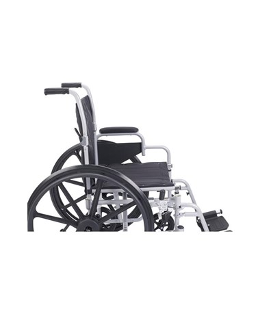 """Drive Poly Fly Light Weight Transport Chair Wheelchair with Swing-away Footrest