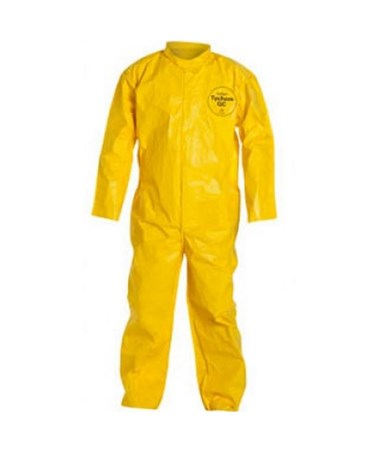 Coverall - Zipper Front, Bound Seam, Yellow DUPQC120BYL-LG