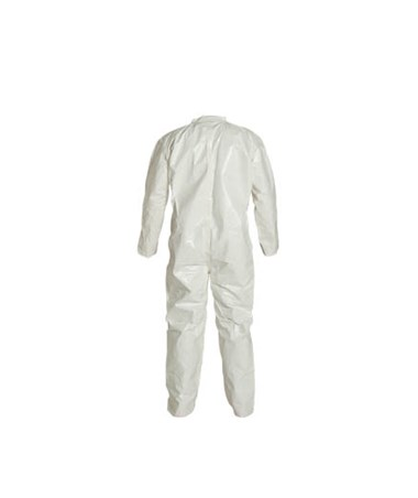 White Tychem SL Coverall with Sealed Seams and Zipper Front