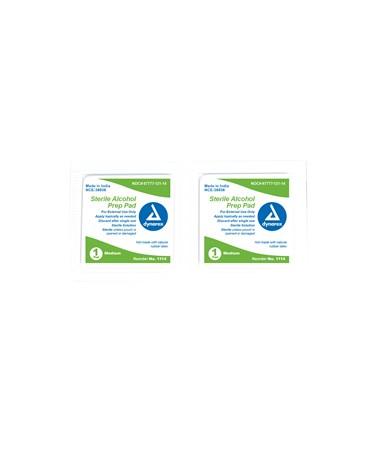 Dynarex 1114 Sterile Alcohol Prep Pads