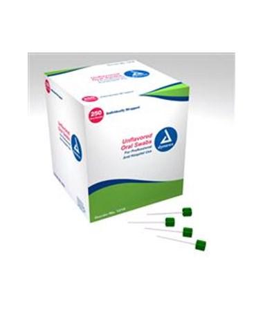 Dynarex 1218 Oral Swabsticks, Unflavored, 250 swabs/box, 4 boxes/case