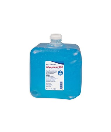 Dynarex 1243 Ultrasound Gel, 1.3 gal (5 liters) Blue, 4 jugs/case