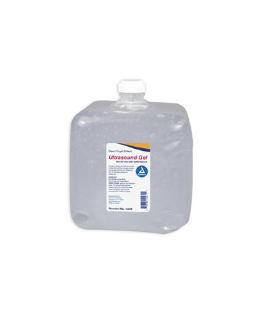 Dynarex 1247 Ultrasound Gel, 1.3 gal (5 liters) Clear, 4 jugs/case