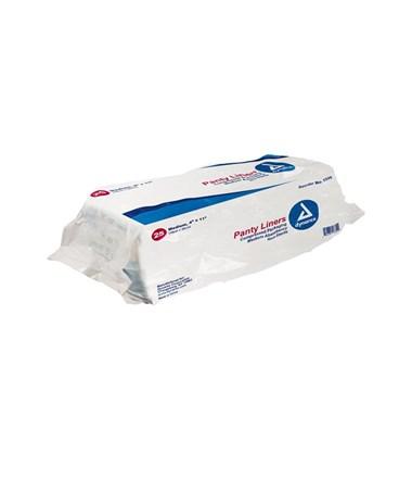 """Dynarex #1335 Pant Liners with Adhesive Tab, 4"""" x 11"""", 25 Pads per bag/ 10 bags"""