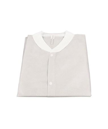 Dynarex #1982,1983, 1984, 1985, 1986,  Lab Coats without Pockets, White,  10 per Bag, 30 Bag/Case