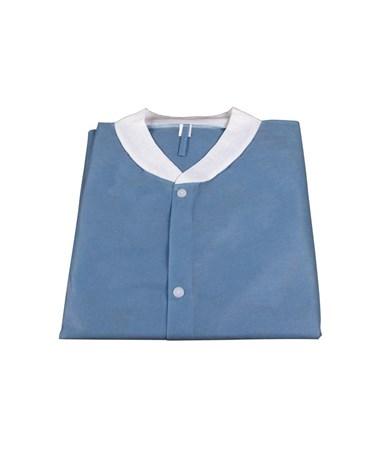 Dynarex #1992, 1993, 1994, 1995, 1996, Lab Coats without Pockets, Dark Blue, Dark Blue 10 per Bag, 30 Bag/Case