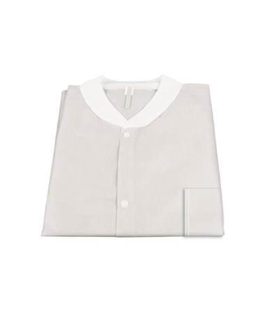 Dynarex #2002, 2003, 2004, 2005, 2006, Lab Jacket SMS with Pockets, White, Small, Medium, Large, Xlarge, 2XL, 10 per Bag, 30 Bag/Case