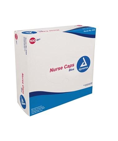 """Dynarex #2103 21"""" Blue, 100 Caps to a box, 5 boxes"""