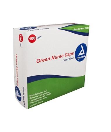 """Dynarex #2112 24"""" Green, 100 Caps to a box, 5 boxes"""