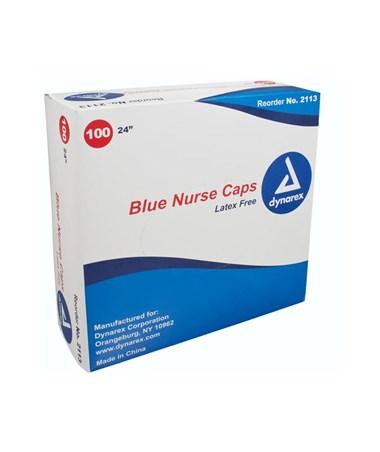 """Dynarex #2113 24"""" Blue, 100 Caps to a box, 5 boxes"""