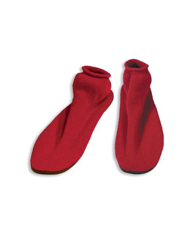 #2170 Hard Sole Slippers, Small, Red, 12 pairs/case