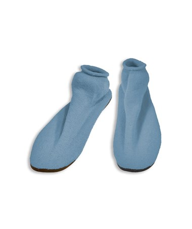 #2171 Hard Sole Slippers, Medium, Sky Blue, 12 pairs/case