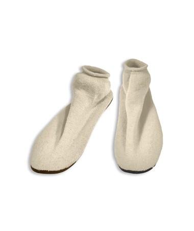 #2173 Hard Sole Slippers, XLarge, White, 12 pairs/case