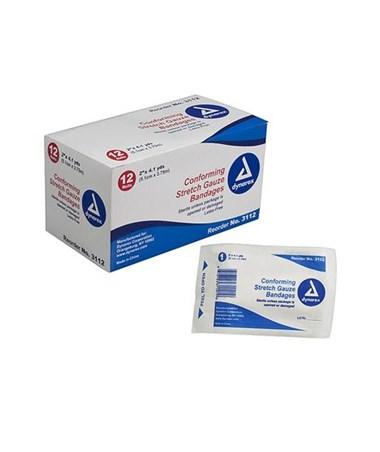 Stretch Gauze Bandage Roll, Sterile DYN3112 - MULTI