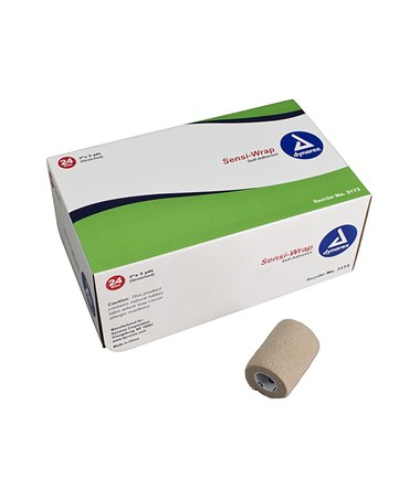 "Dynarex #3173 Sensi Wrap, Self Adherent, 3"" x 5 yards, Tan, 24 rolls per case"