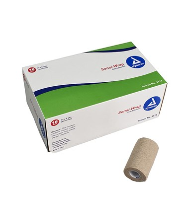 "Dynarex #3174 Sensi Wrap, Self Adherent, 4"" x 5 yards, Tan, 18 rolls per case"